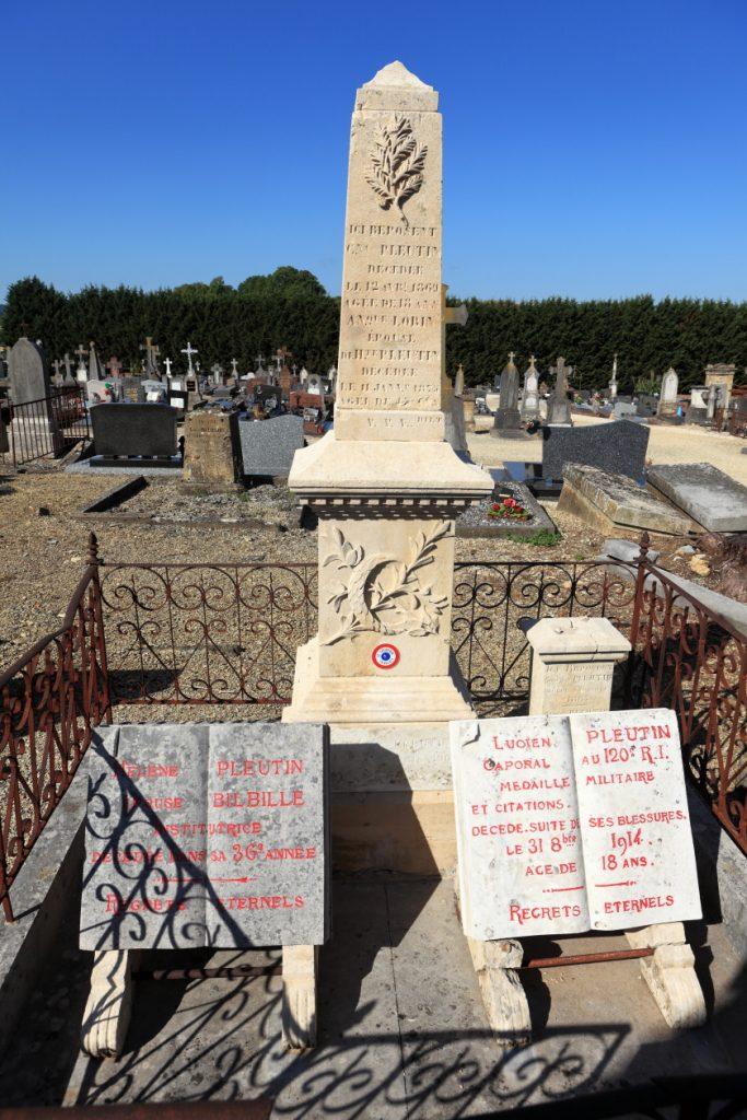 Tombe Pleutin au cimetière de Stenay