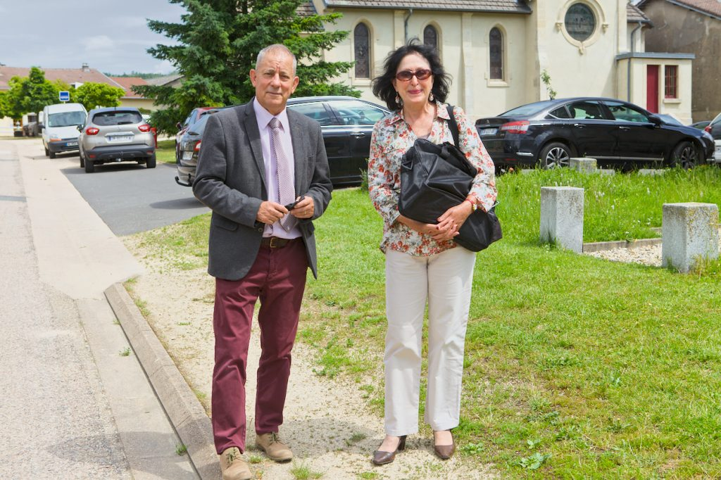 M. Xavier Pierson maire des Eparges et Mme Patricia Pierson présidente de L'Esparge